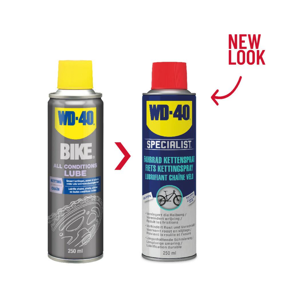 old new fietsketting spray